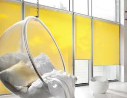 Roller blinds for plastic windows